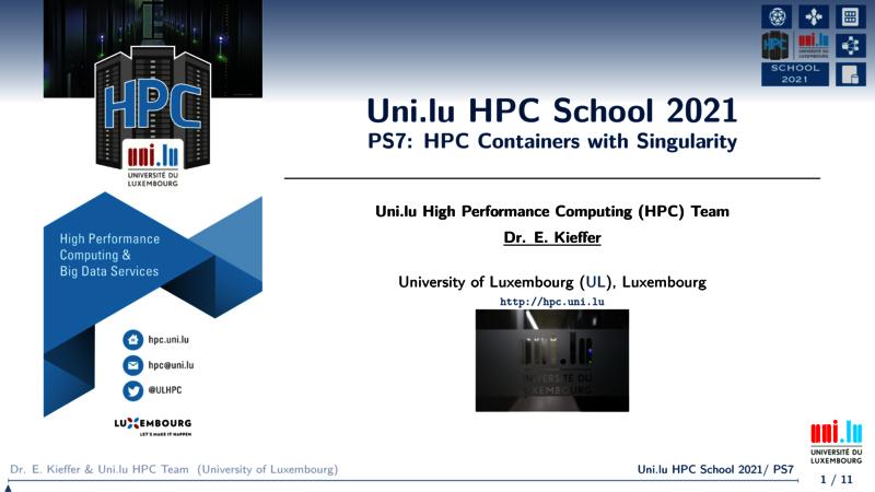 Singularity - UL HPC Tutorials